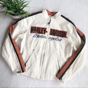 Harley Davidson Embroidered Vinyl Riding Jacket